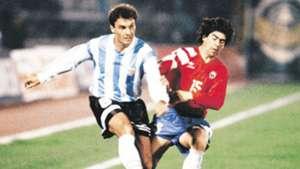 Ruggeri, Salas (debut). Chile 3 3 Argentina 18051994