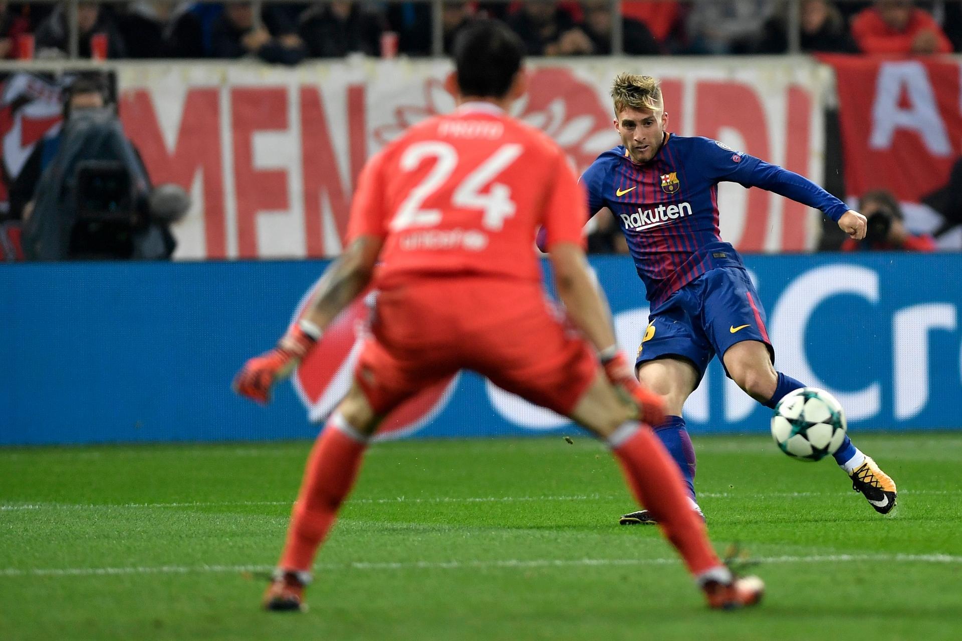 Gerard Deulofeu Olympiakos Barcelona UCL 31102017