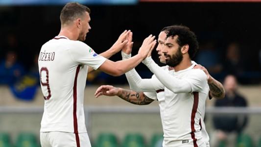 Salah Dzeko Roma Serie A