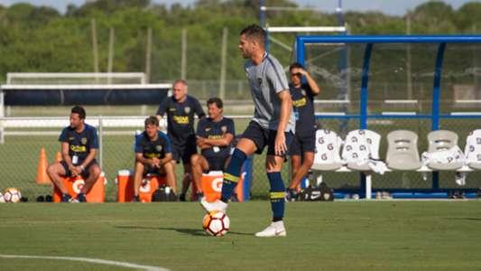 Fernando Gago Boca Miami United Pretemporada Amistoso 2018