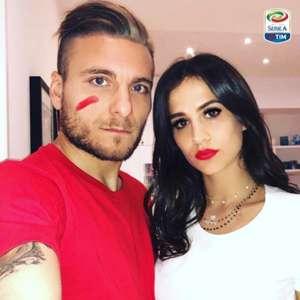 Ciro Immobile Lazio with his girlfriend