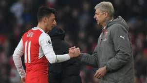 Mesut Ozil Arsene Wenger Arsenal Premier League