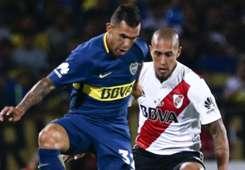 Carlos Tevez Jonatan Maidana River Plate Boca Juniors Supercopa Argentina 14032018