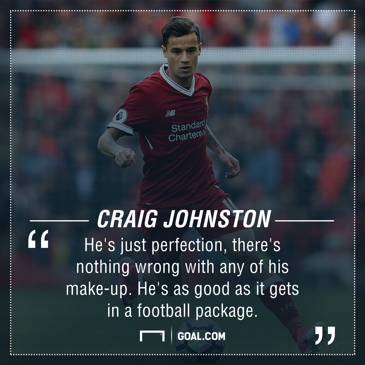Philippe Coutinho Liverpool Craig Johnston
