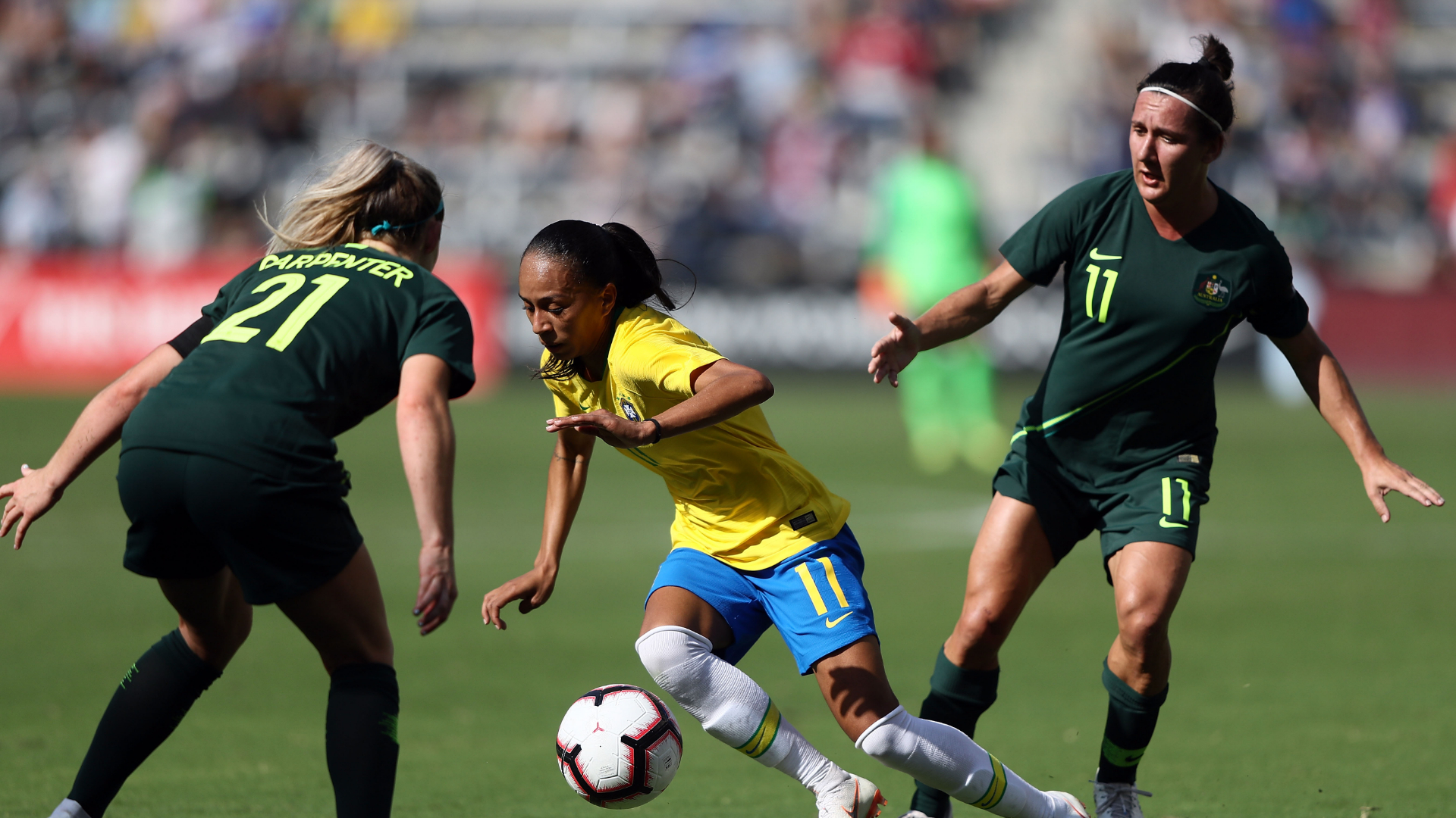 Australia overcomes two-goal deficit to beat Brazil 3-2