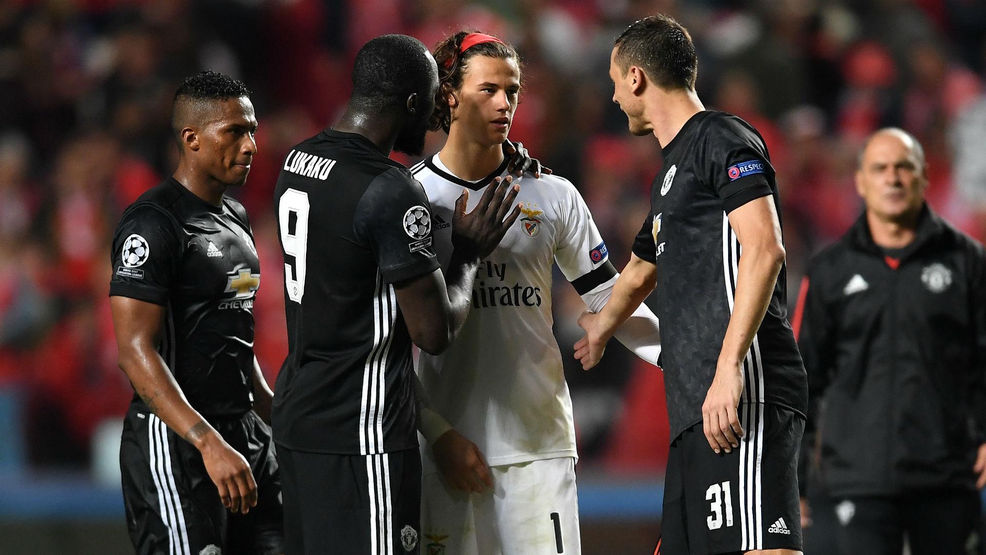 Romelu Lukaku Nemanja Matic Mile Svilar Manchester United Benfica Champions League