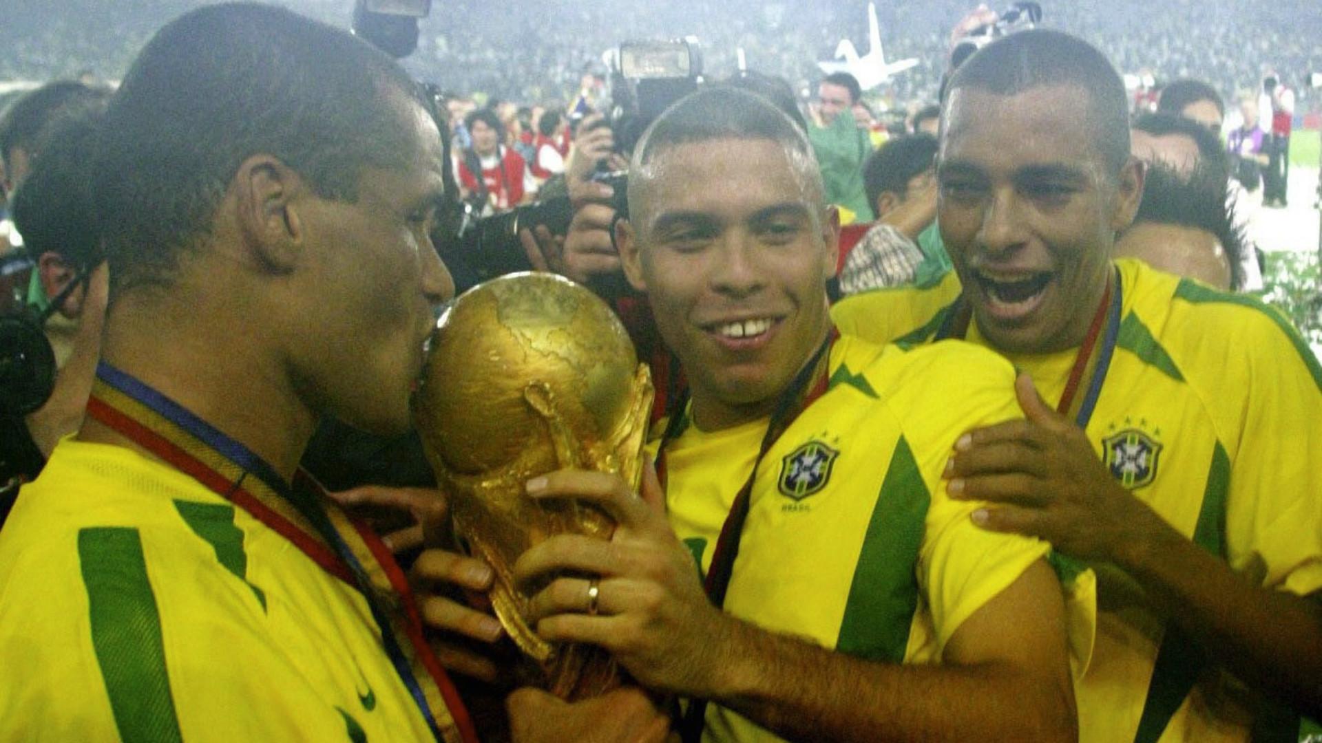 Ronaldo Rivaldo Brazil 2002