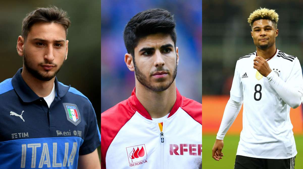 collage Donnarumma Asensio Gnabry