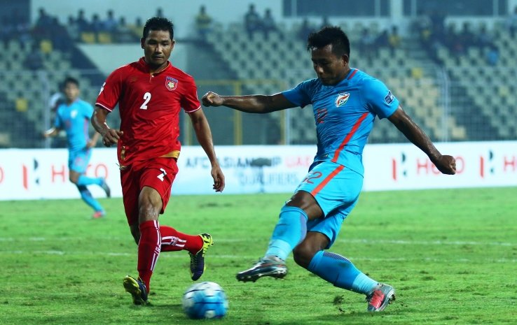 India v Myanmar; AFC Asian Cup qualifier Goa