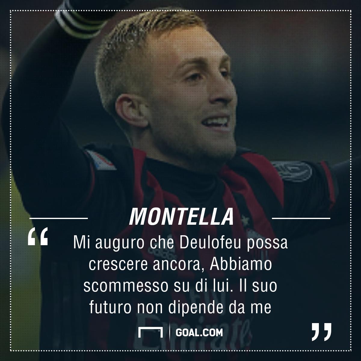 Montella Deulofeu Milan Serie A