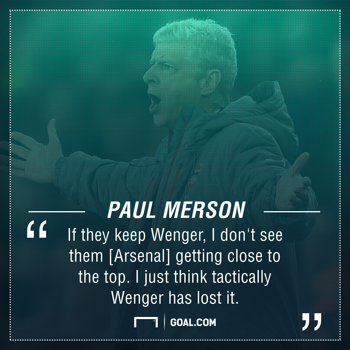 Paul Merson Arsene Wenger