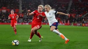 Rhiannon Roberts, Beth Mead, England Women vs Wales Women