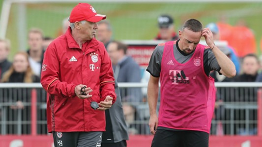Carlo Ancelotti Franck Ribery 2016