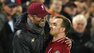 Jurgen Klopp Xherdan Shaqiri Liverpool 2018-19