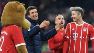 Müller Lewandowski FC Bayern Hannover 96 Bundesliga 20171202