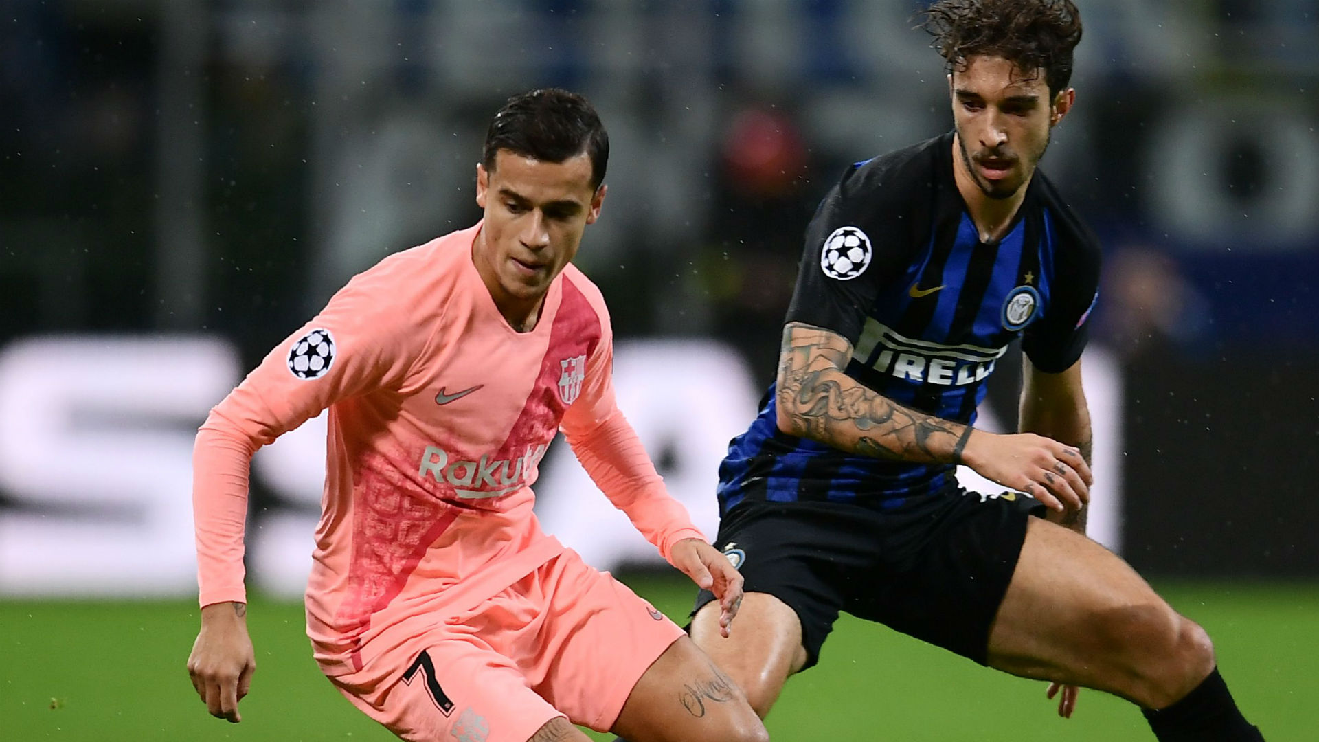 Coutinho Vrsaljko Inter Barcelona Champions League