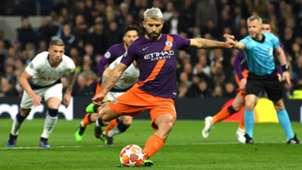 Sergio Aguero, Tottenham vs Man City, UCL 2018-19