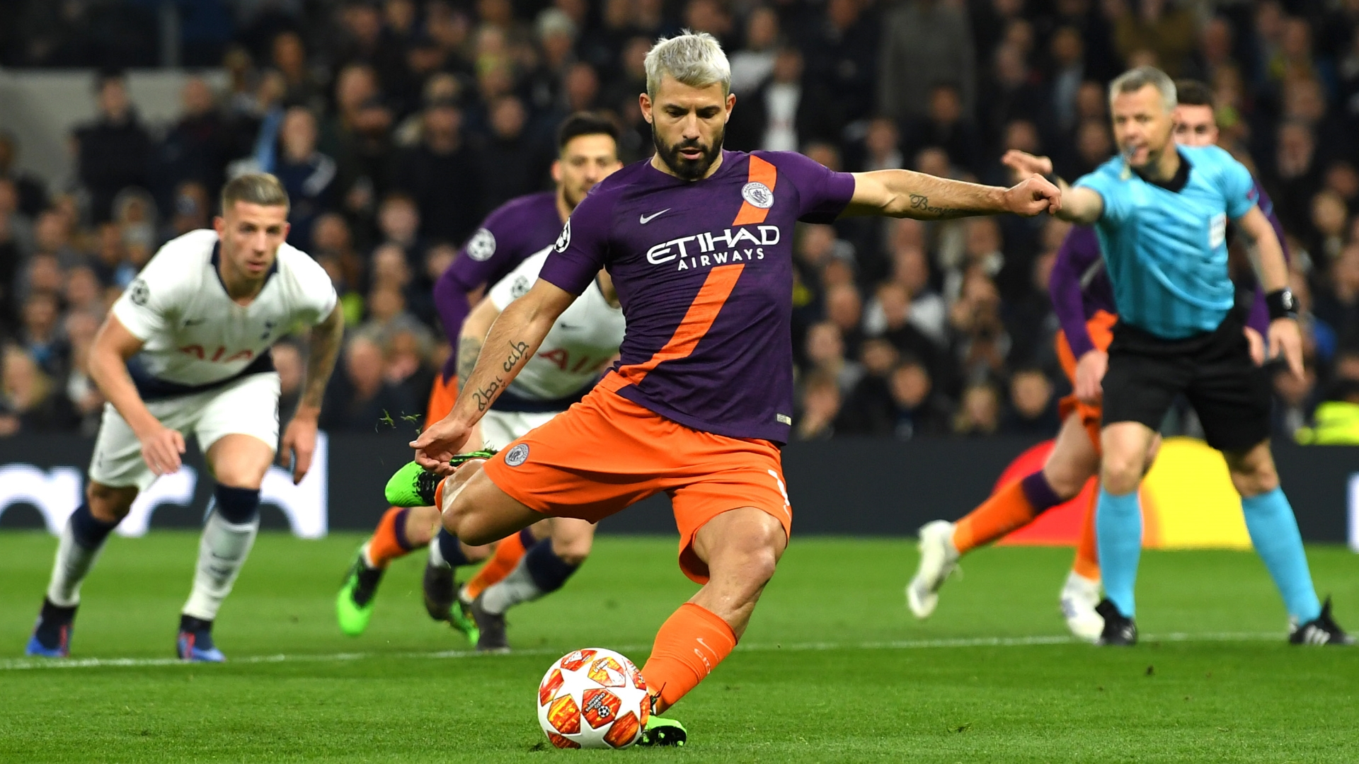 Sergio Aguero, Tottenham vs Man City, UCL 2018-19