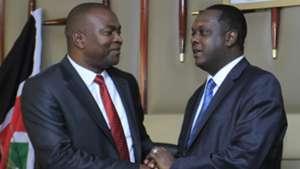 Sports CS Rashid Echesa and Hassan Wario.
