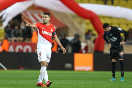 Radamel Falcao Monaco vs Nice Ligue 1 15012018
