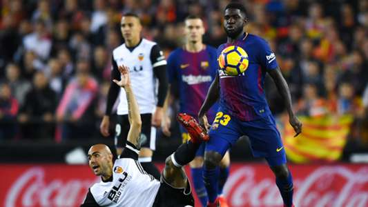 Samuel Umtiti Simone Zaza Valencia Barcelona LaLiga 26112017