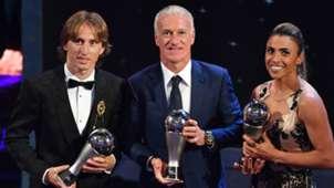 Marta, Modric e Deschamps - The Best Fifa - 24/09/218