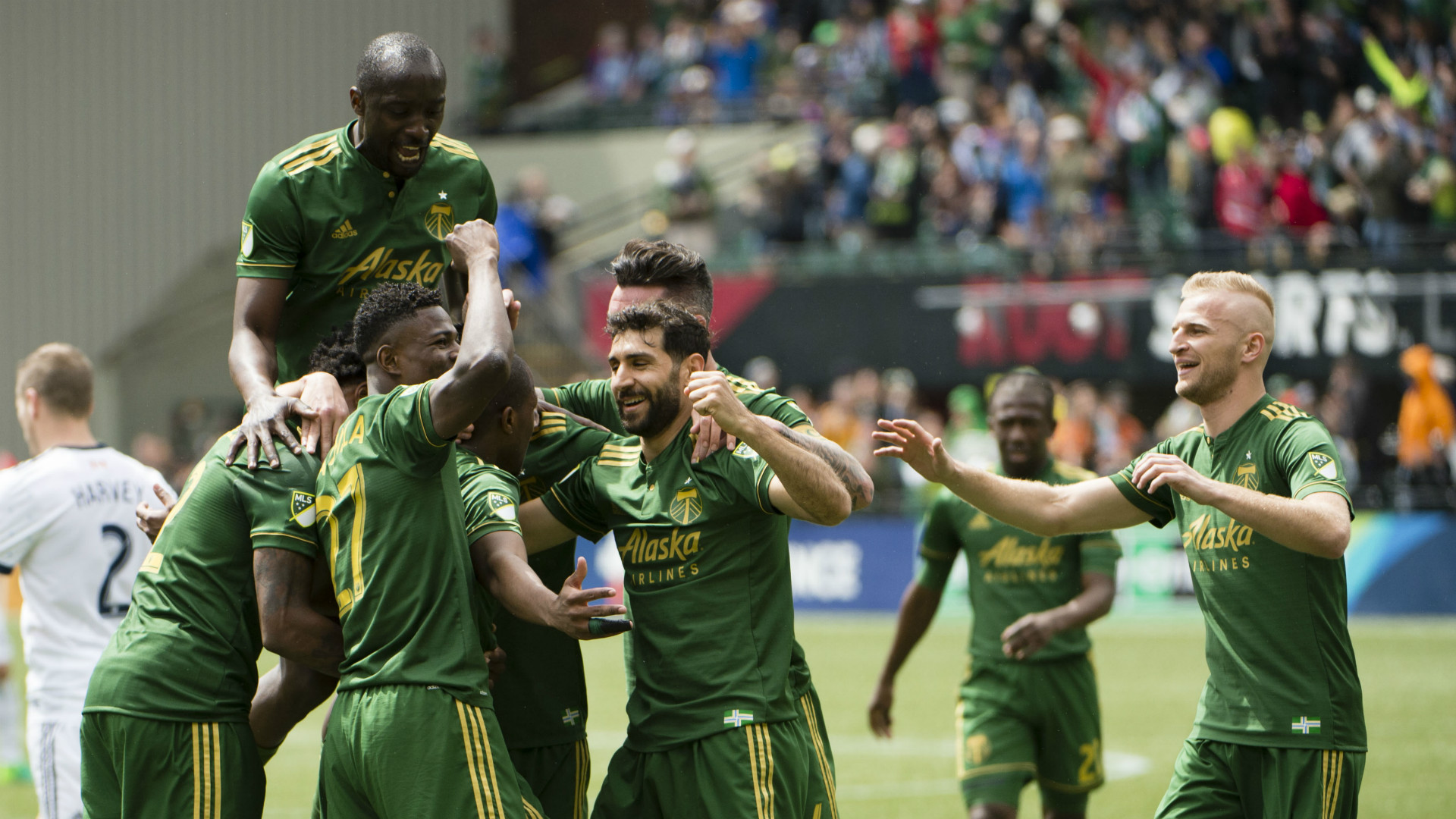 Portland Timbers goal celebration