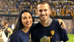 Dario Benedetto y esposa Noelia Pons 2018