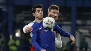Morata Mustafi Arsenal Chelsea Carabao Cup 01102017