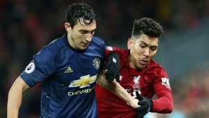 Matteo Darmian Manchester United Roberto Firmino Liverpool