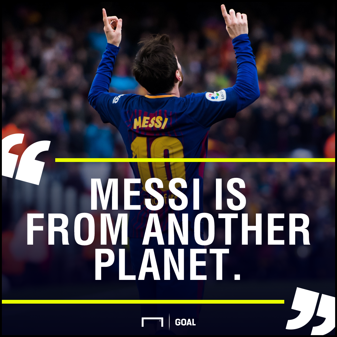 Lionel Messi from another planet Jose Maria Gimenez