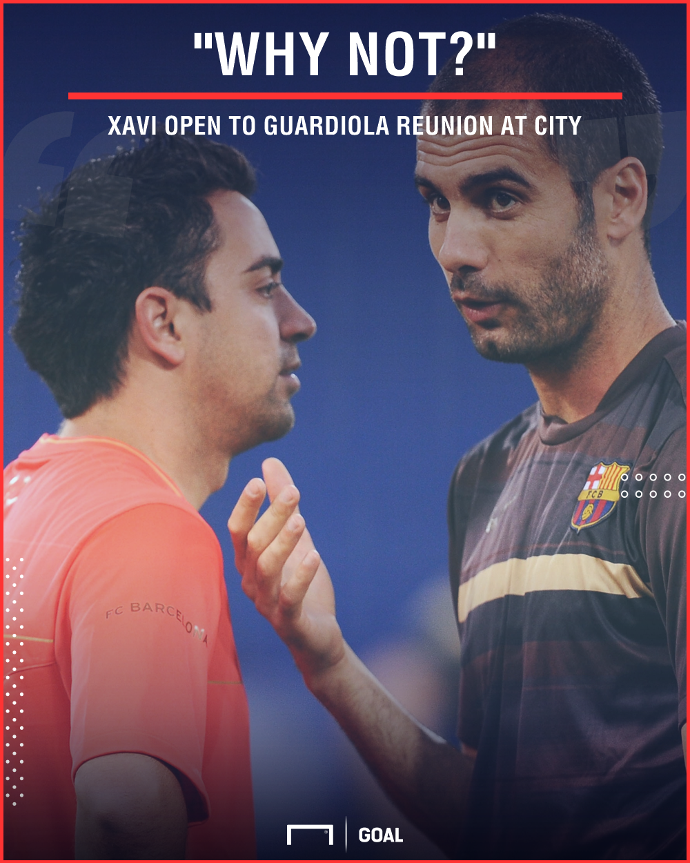 Xavi Pep Guardiola Manchester City reunion