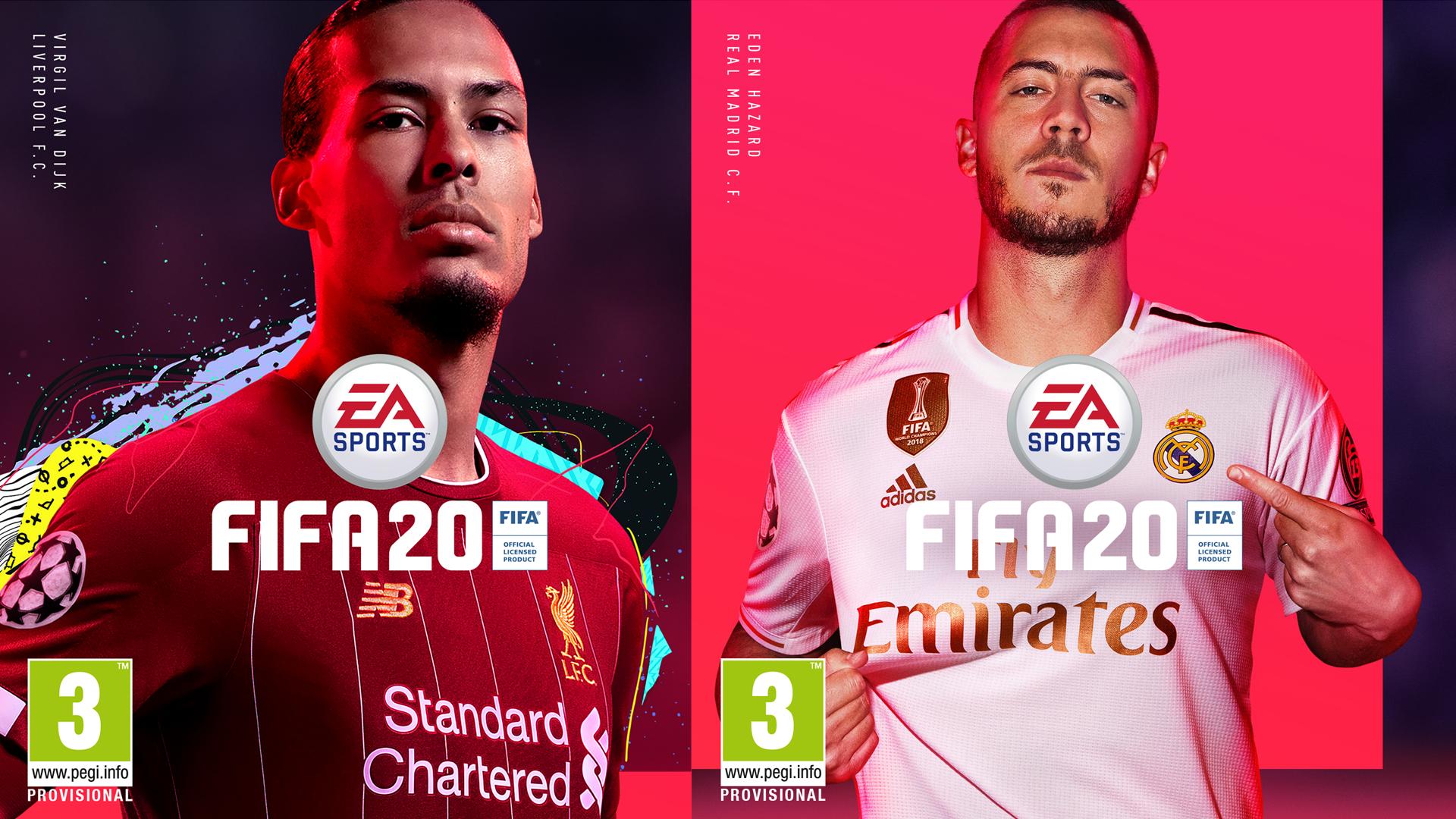 FIFA 20 Eden Hazard Virgil van Dijk