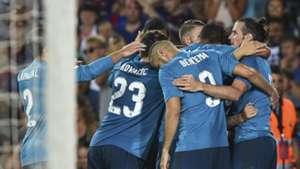 Real Madrid celebrate Supercopa