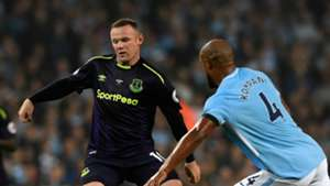 Wayne Rooney Vincent Kompany Man City Everton
