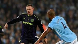 Wayne Rooney Vincent Kompany Man City Everton