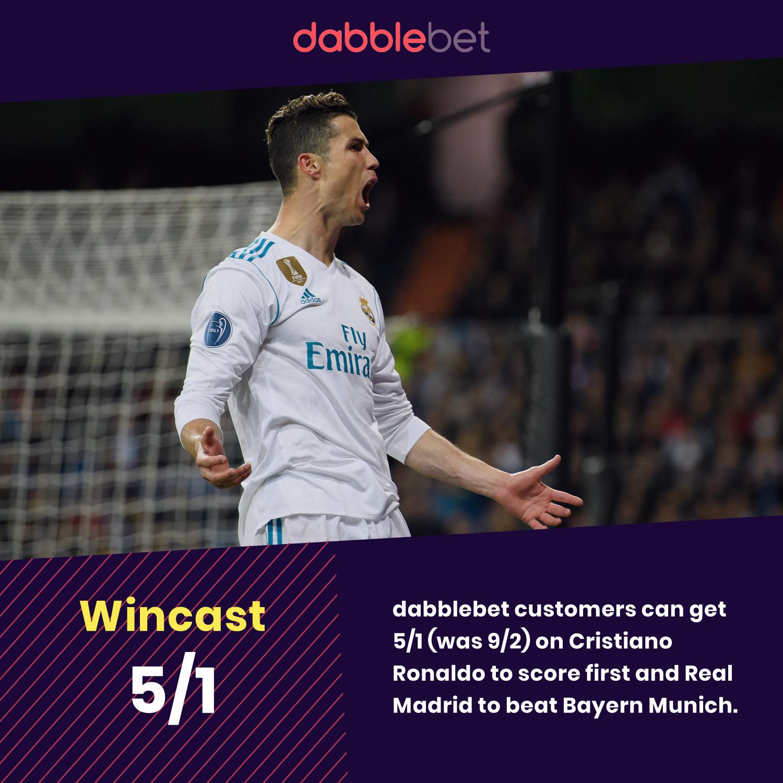 Cristiano Ronaldo Enhanced odds vs Bayern Munich