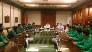 Hary Tanoesoedibjo & Timnas Futsal Indonesia U-20
