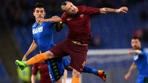 Radja Nainggolan Luca Antei Roma Sassuolo Serie A