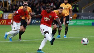 Paul Pogba, Wolves vs Man Utd penalty