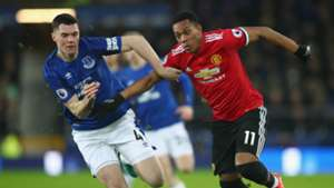 Anthony Martial Michael Keane Manchester United Everton