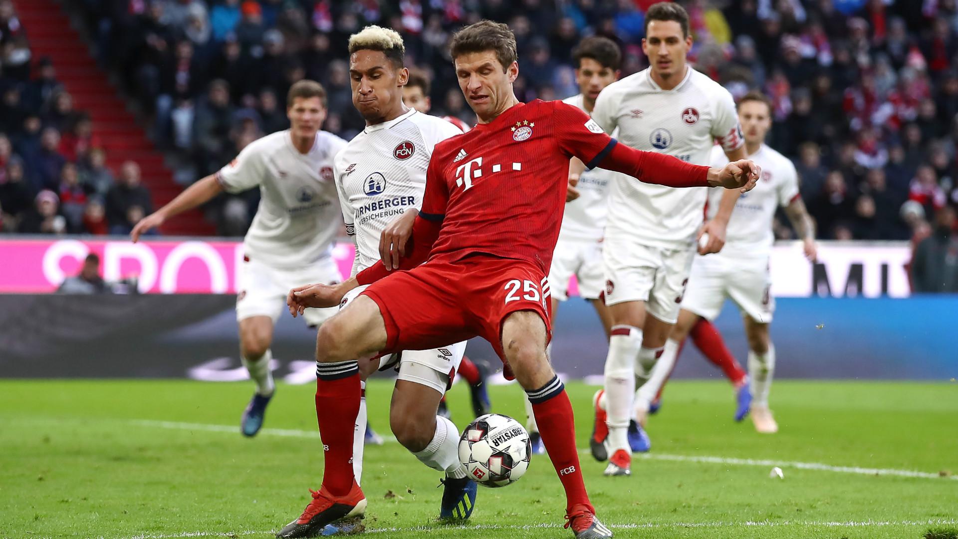 Thomas Muller Kevin Goden Bayern Munchen 1 FC Nurnberg Bundesliga 08122018