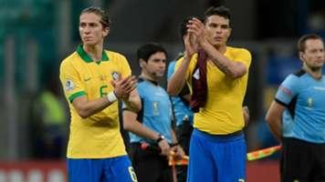 Filipe Luis Thiago Silva Brazil Venezuela Copa America 2019