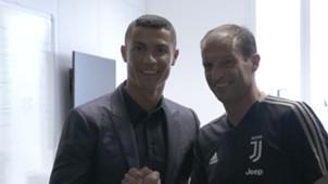 Cristiano Ronaldo e Allegri Juventus apresentação 16 07 18