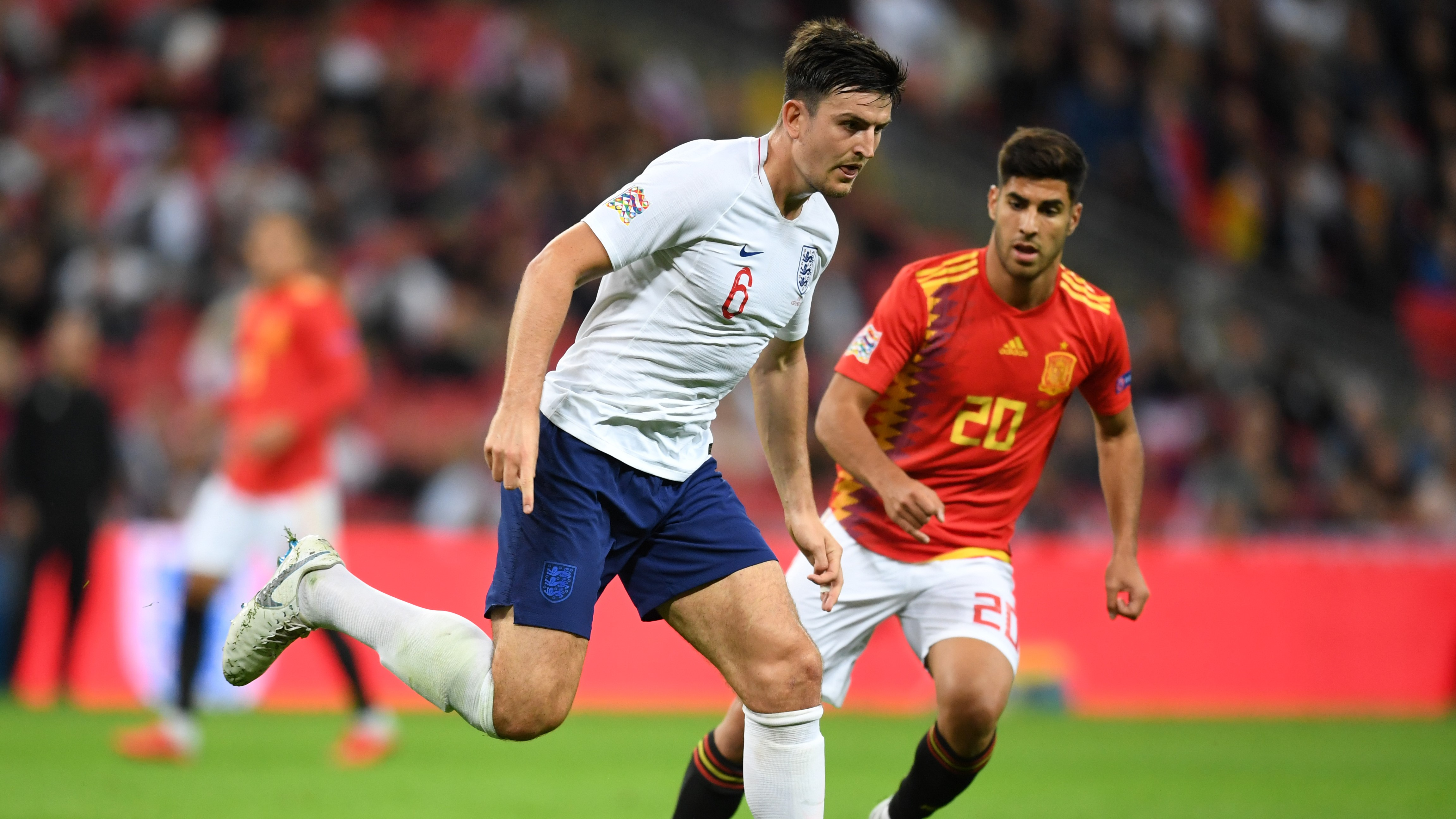 Marco Asensio Harry Maguire Inglaterra España England Spain Nations League 08092018