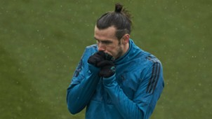 Gareth Bale Real Madrid Champions League training session