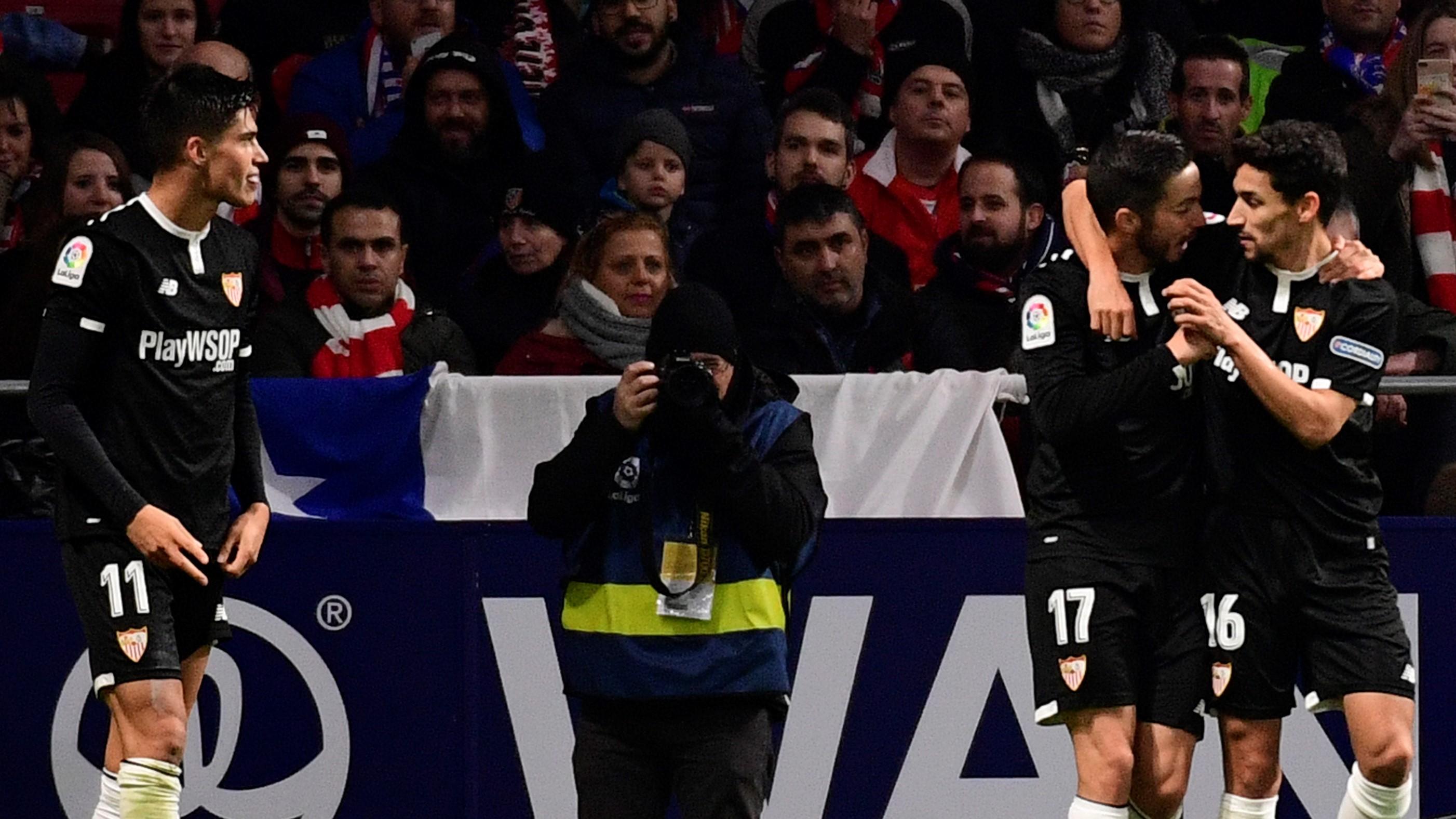 Sevilla sorprendió al Atlético en Madrid