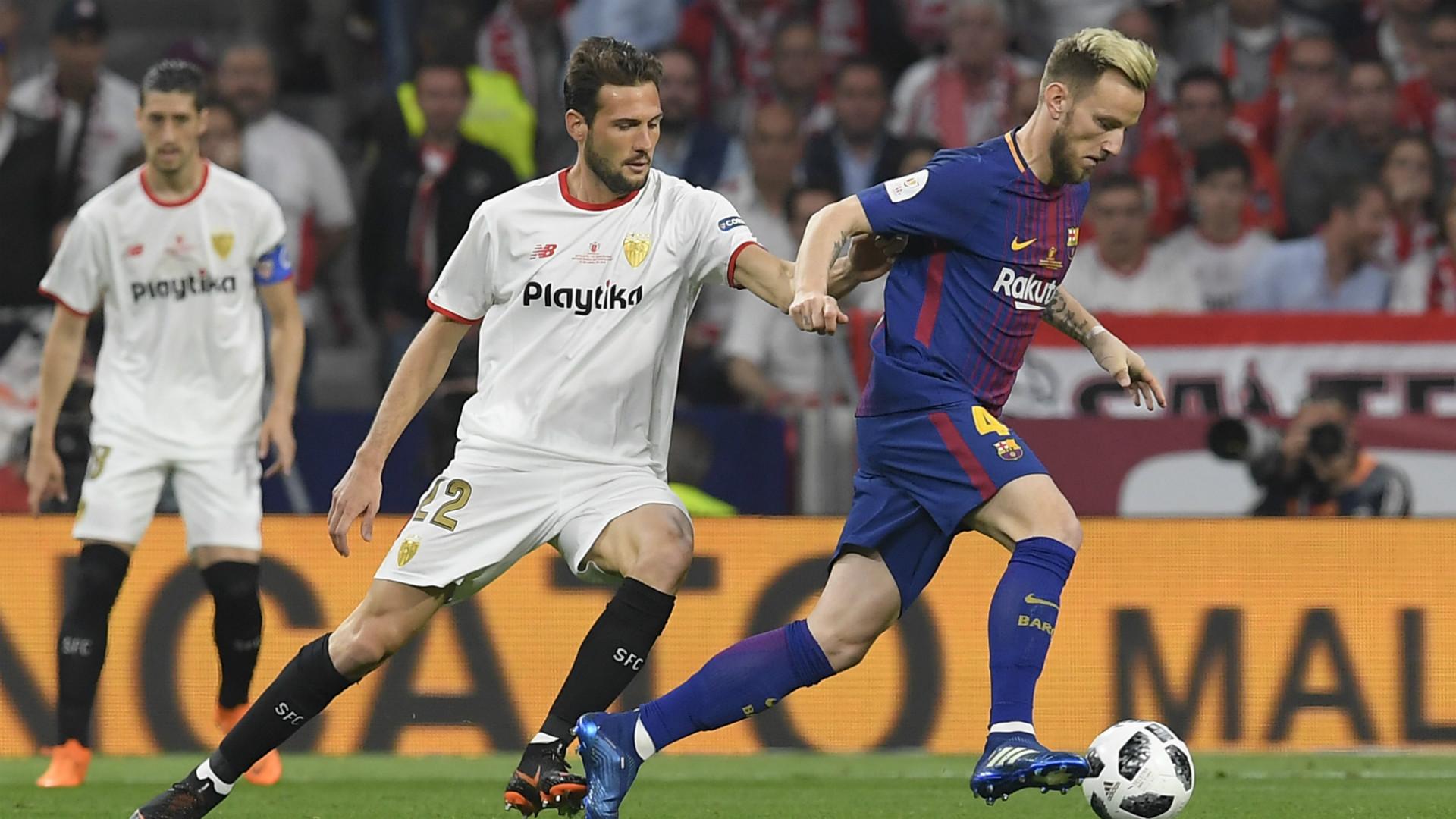 Rakitic Vazquez Sevilla Barcelona Copa del Rey