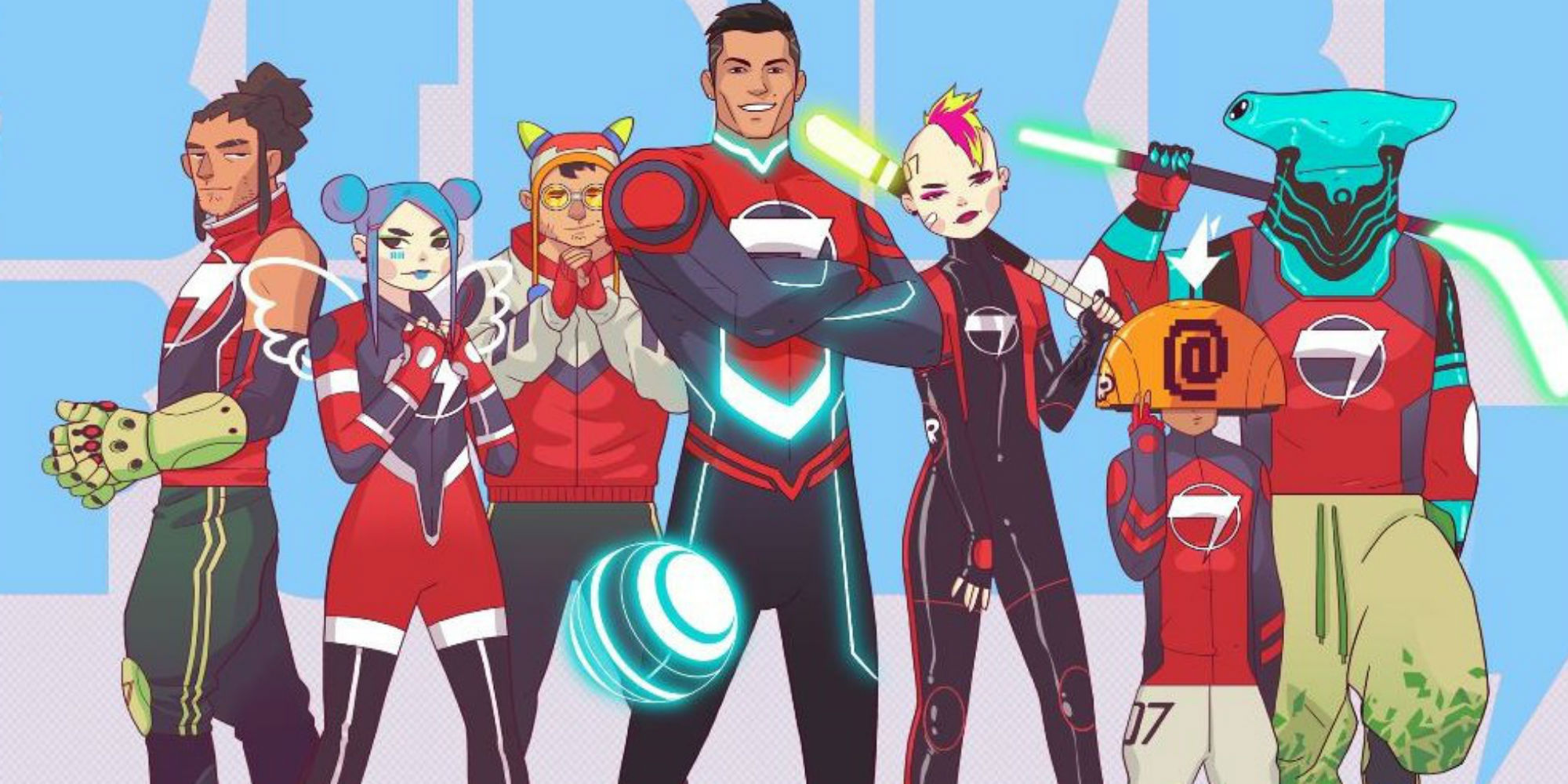 Cristiano Ronaldo diventa supereroe: arriva il cartoon Striker Force 7