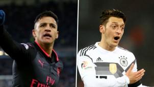 Alexis Sanchez Mesut Ozil split